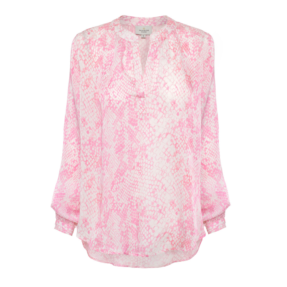 Primrose Park Sandy Snake Print Long Sleeve Top Pink