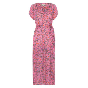 Fiona S/S Side Split Dress Pink