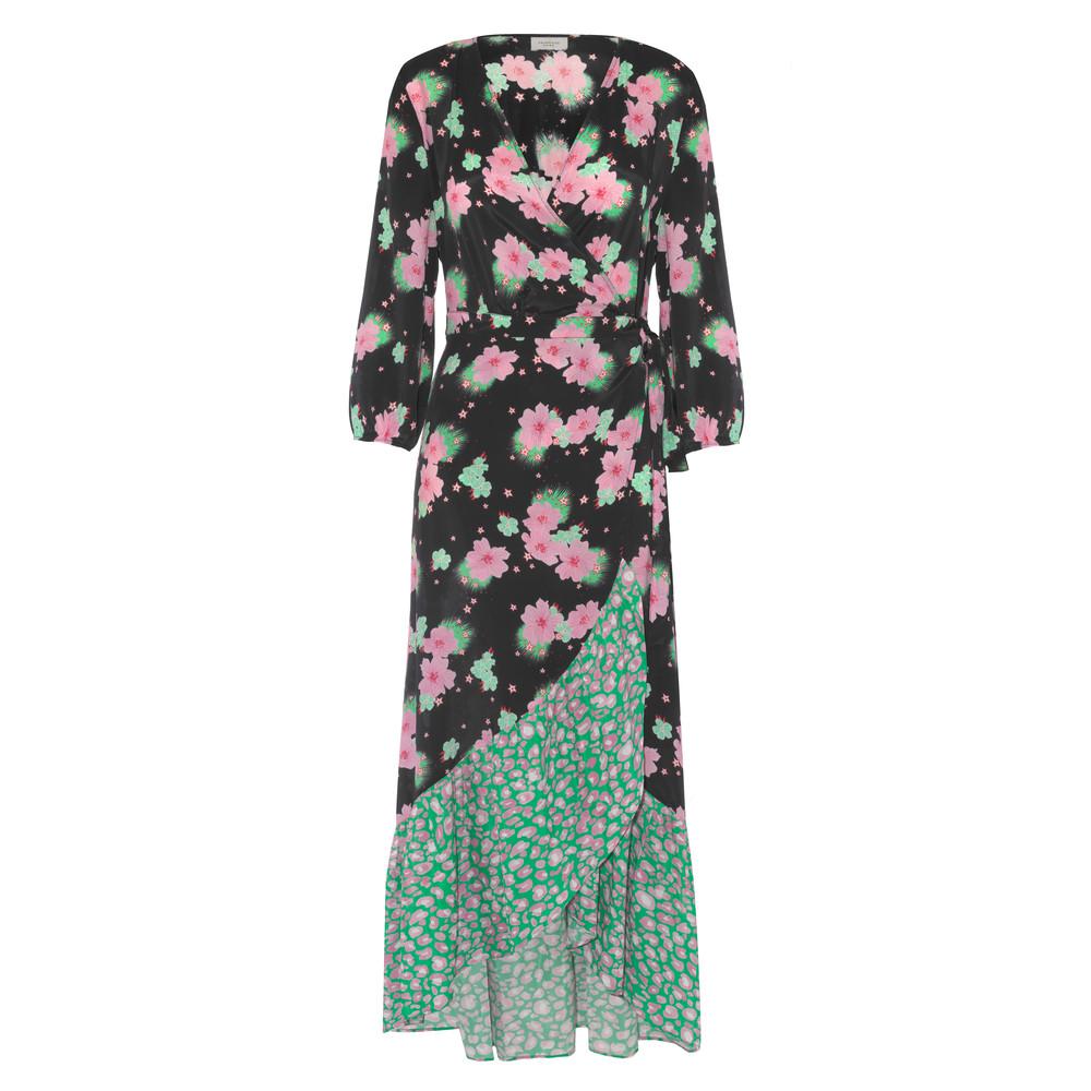 Primrose Park Paloma Wrap Floral Dress Black