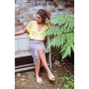 Primrose Park Lauren Front Split Skirt Brown