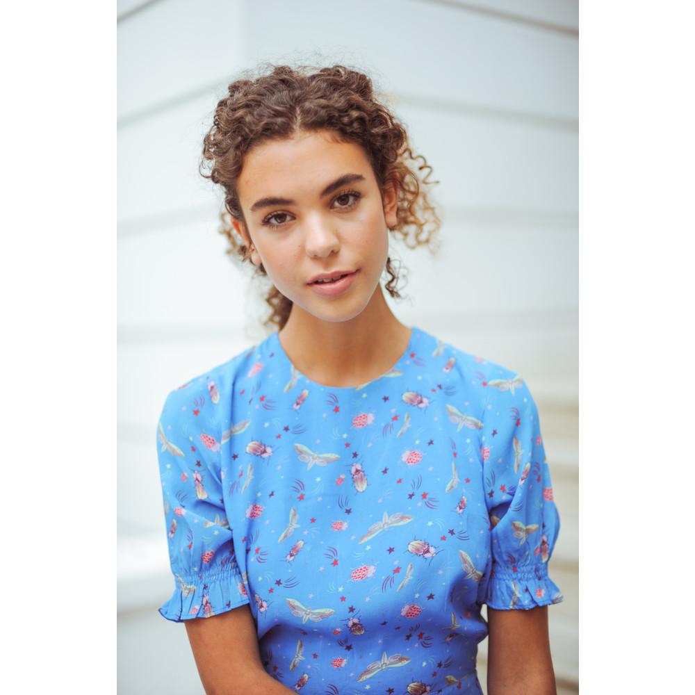 Primrose Park Betty Short Sleeve Starry Night Dress Blue