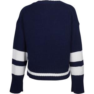 360 Sweater Ruby Block Stripe Jumper Pacific/White