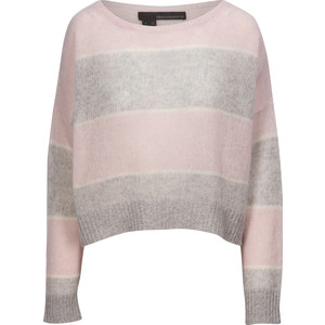 Constance Stripe Crop Knit Purple Haze/Grey
