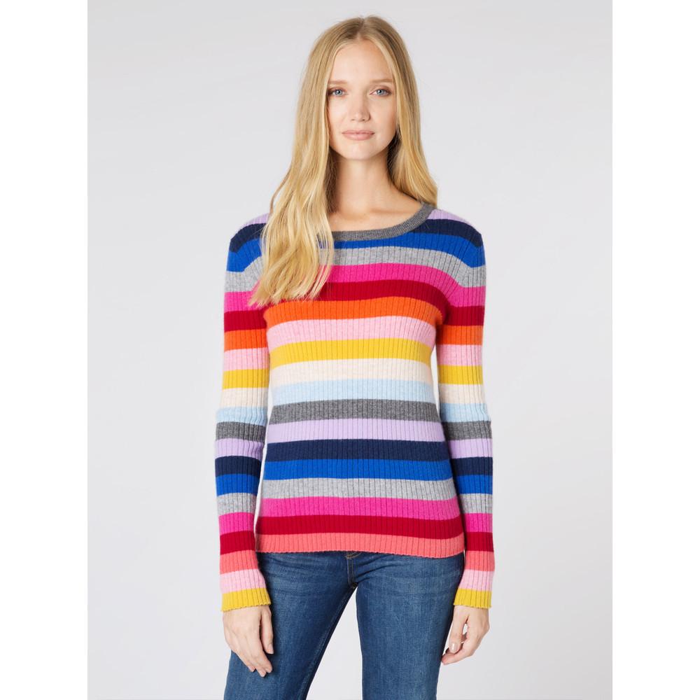Wyse London Camille Rainbow Rib Knit Rainbow