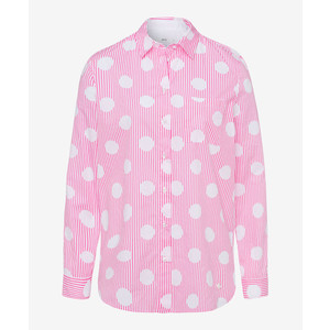 Victoria Spot Stripes Shirt Pink/White