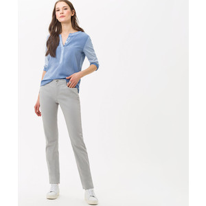 Brax Mary Straight Leg Trousers in Stone