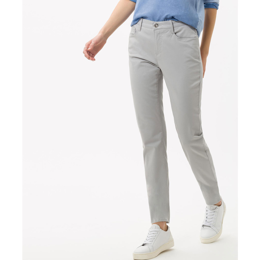Brax Mary Straight Leg Trousers Stone