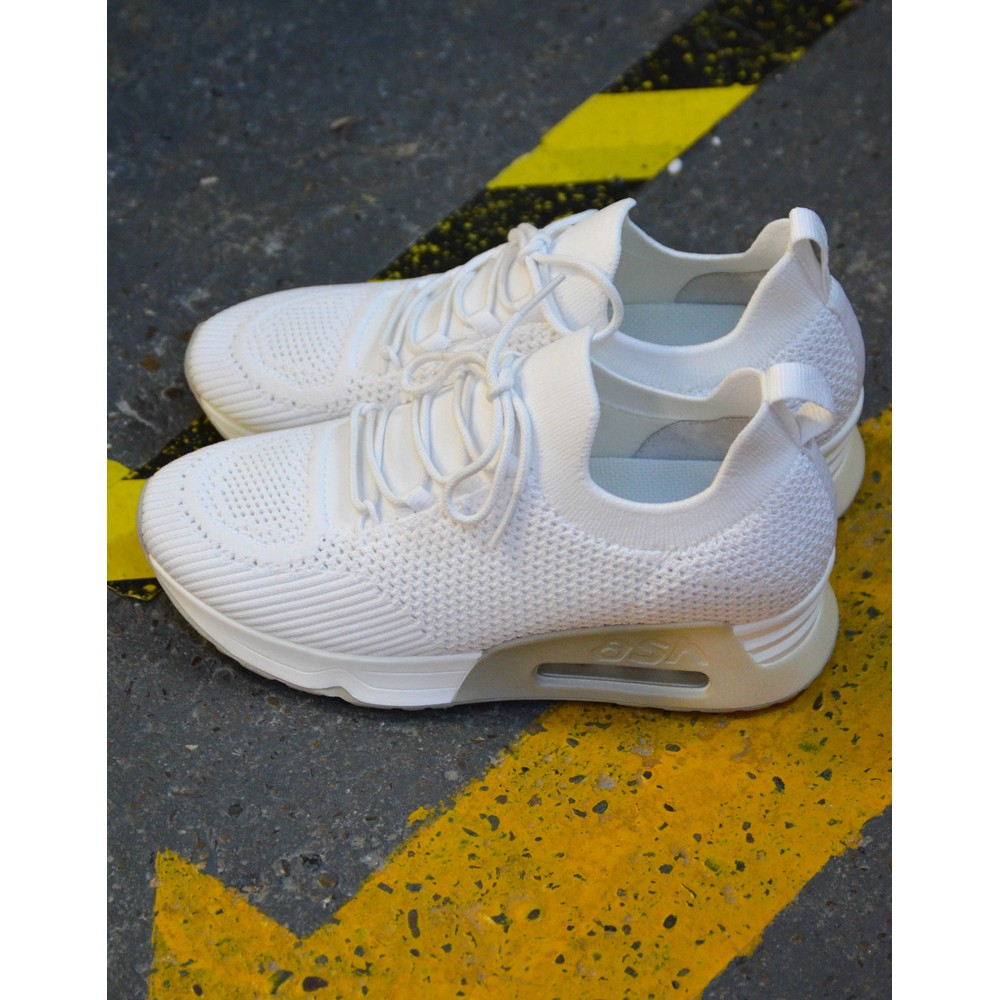 Ash Lunatic Knit Trainer White/Off White