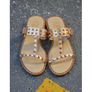 Ash Iggy Stud Heel Sandal Ivory