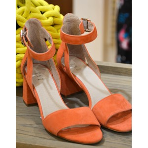 May Block Heel Sandal Coral
