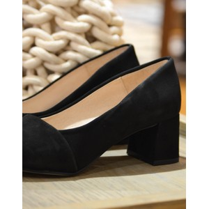 Allison Pointed Low Heel Shoe Black