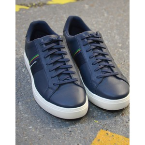 Rex Leather Trainer Dark Navy