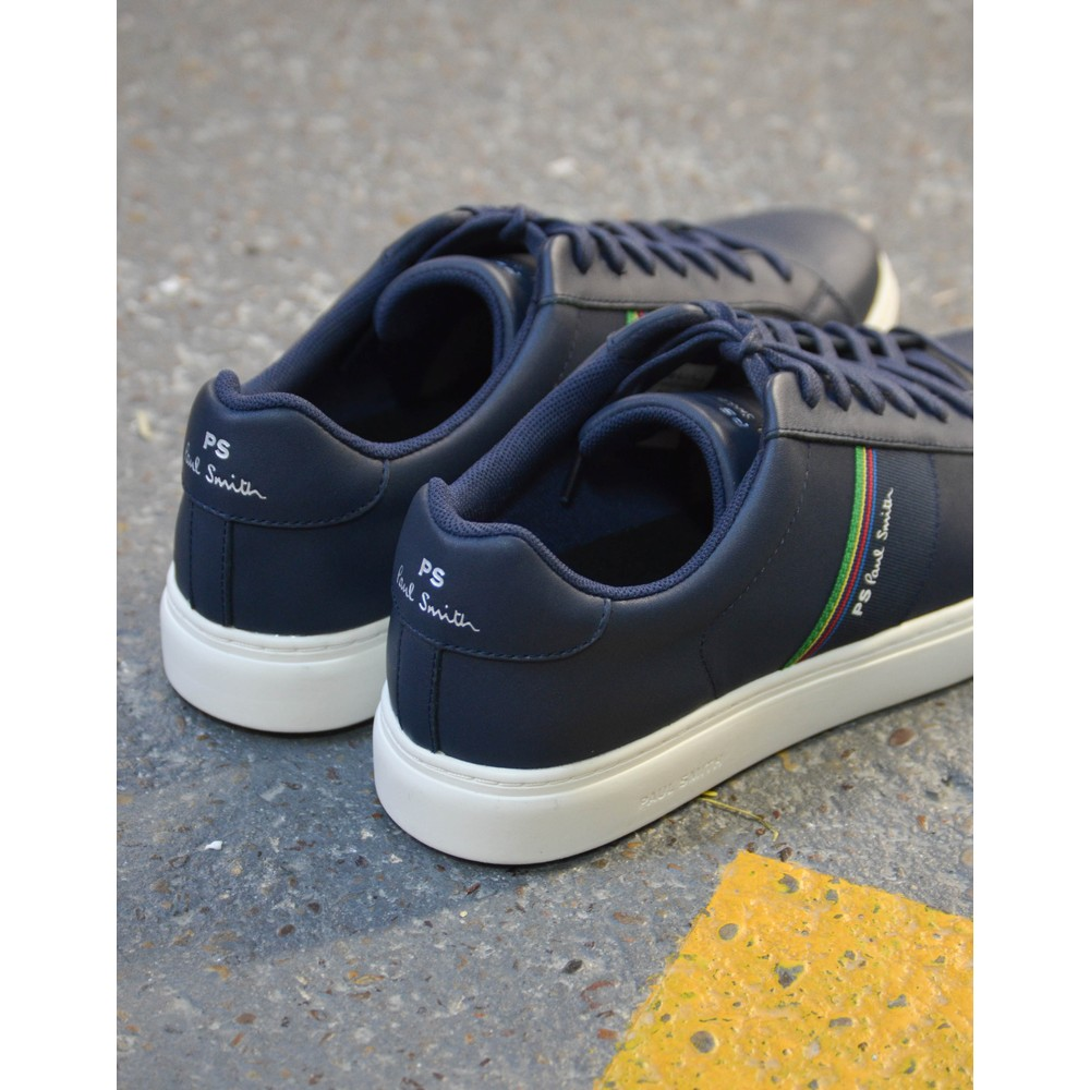 Paul Smith Shoes Rex Leather Trainer Dark Navy