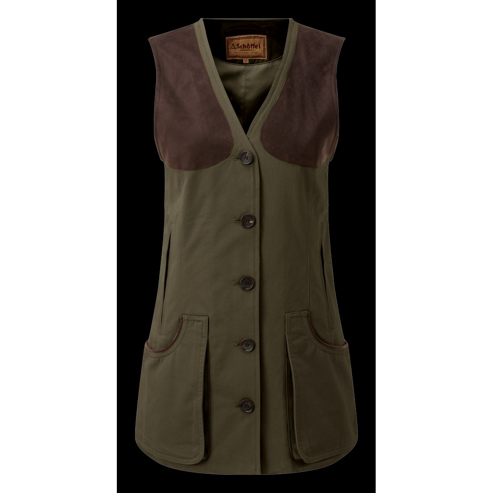 Schoffel Country All Season Shooting Vest-W Dark Olive