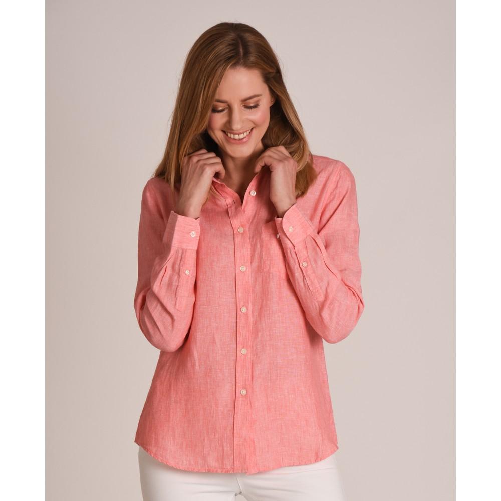 Schoffel Country Saunton Linen Shirt Linen Lt Coral