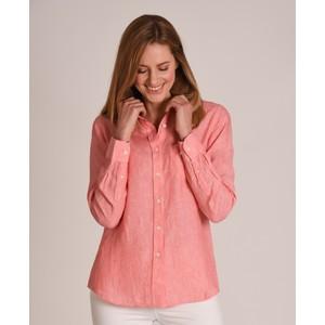 Schoffel Country Saunton Linen Shirt in Linen Lt Coral