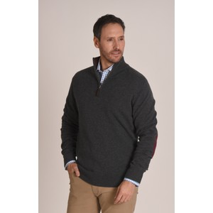 Schoffel Country Merino 1/4 Zip Jumper in Charcoal