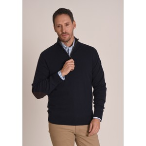 Schoffel Country Merino 1/4 Zip Jumper in Navy