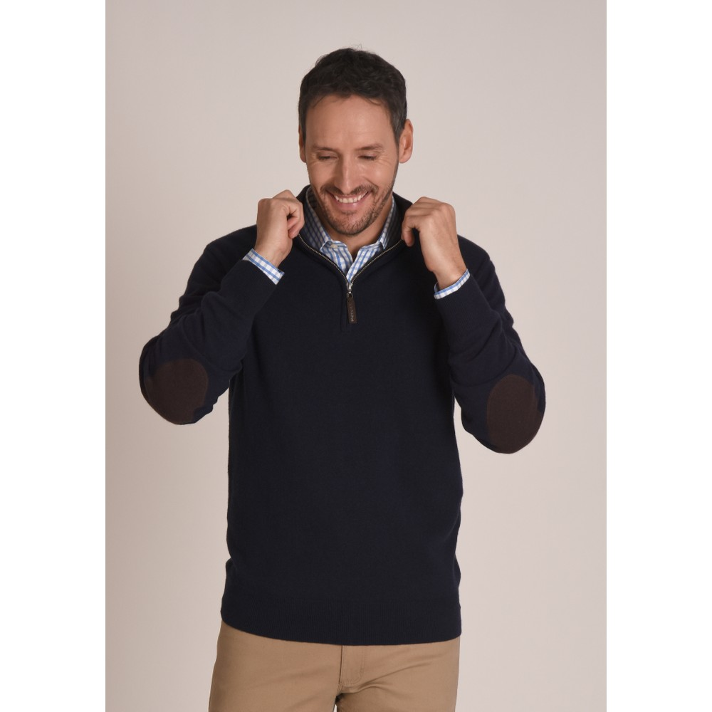 Schoffel Country Merino 1/4 Zip Jumper Navy