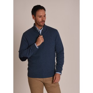 Schoffel Country Merino 1/4 Zip Jumper Stone Blue