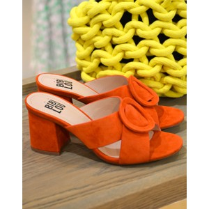 Bibi Lou Cross-Over Slip On Suede Shoe in Burnt Orange