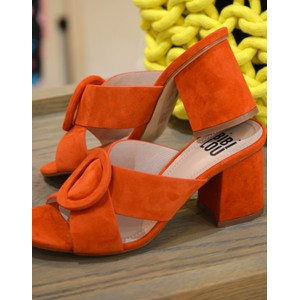 Bibi Lou Cross-Over Slip On Suede Shoe Burnt Orange