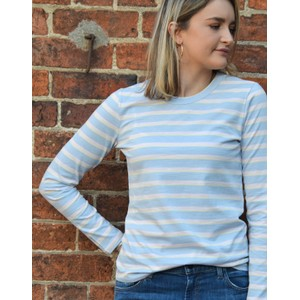 Levete Room Eika L/S Striped T Shirt Pool Blue/Multi