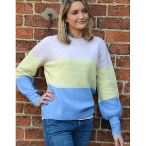 Levete Room Cille Colour Blk Knit Pink/Yellow/Blue