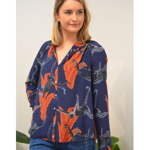 Nova Long Sleeve Chimp Top Navy/Multi