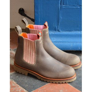 Oscar Leather Boot Khaki/Tea Rose