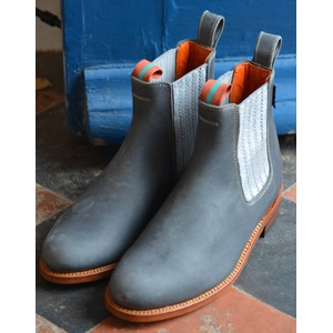 Penelope Chilvers Chelsea Leather Boot Slate/Silver