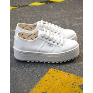 Sierra Ridged Sole Trainer White