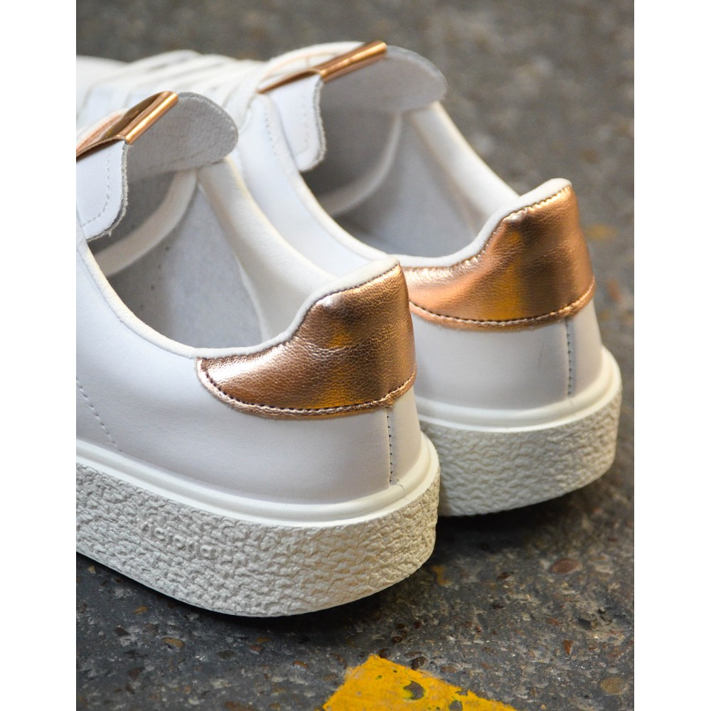 Victoria Utopia Platform Trainer White/Rose Gold