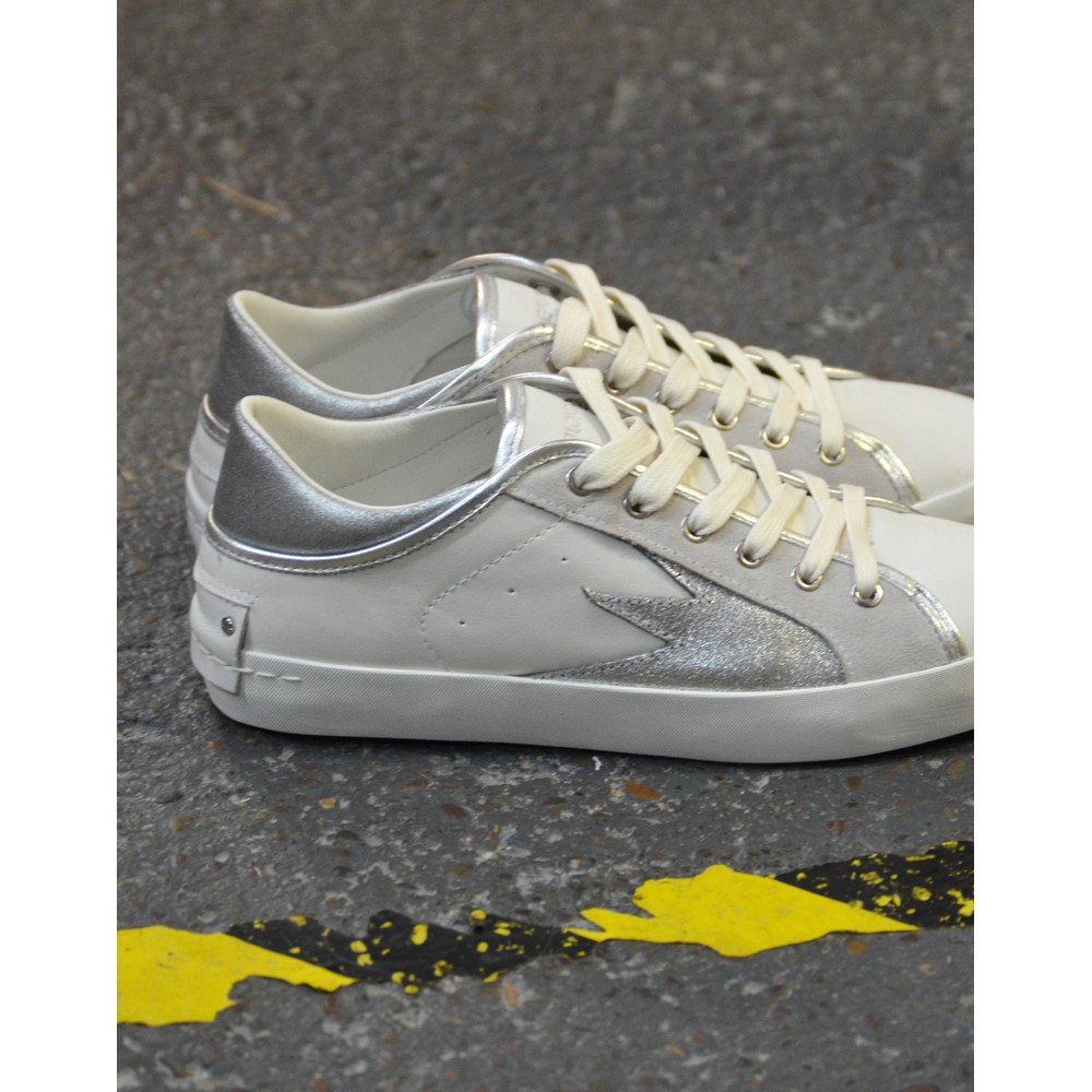 Crime London Faith Lo Explosion Trainer Off White/Silver