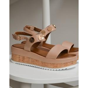 Platform Sandal Nude
