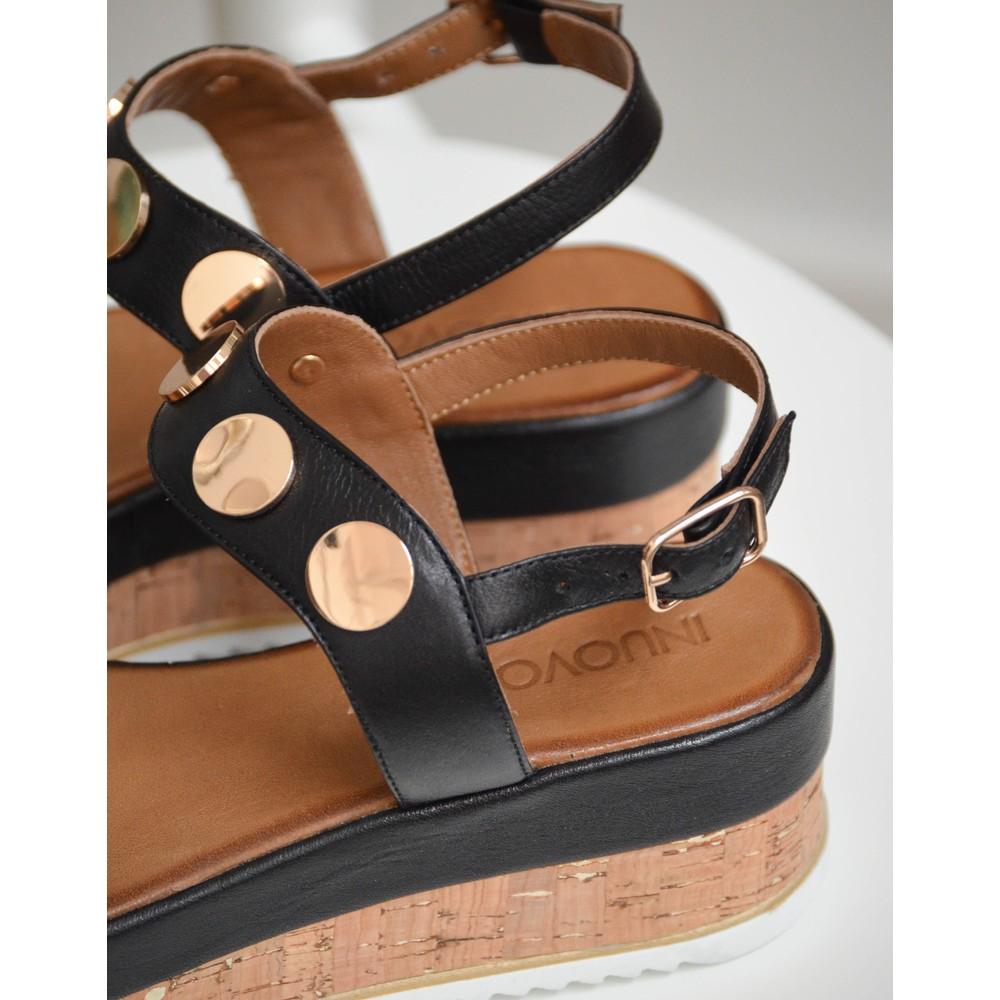 Inuovo Platform Sandal Black