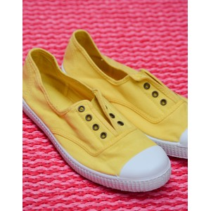Victoria Dora No Laces Plimsoll Yellow