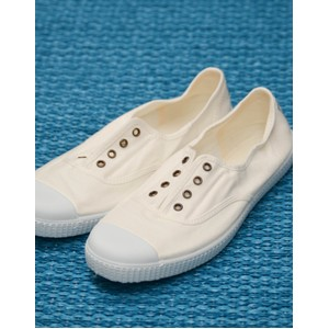 Victoria Dora No Laces Plimsoll in White