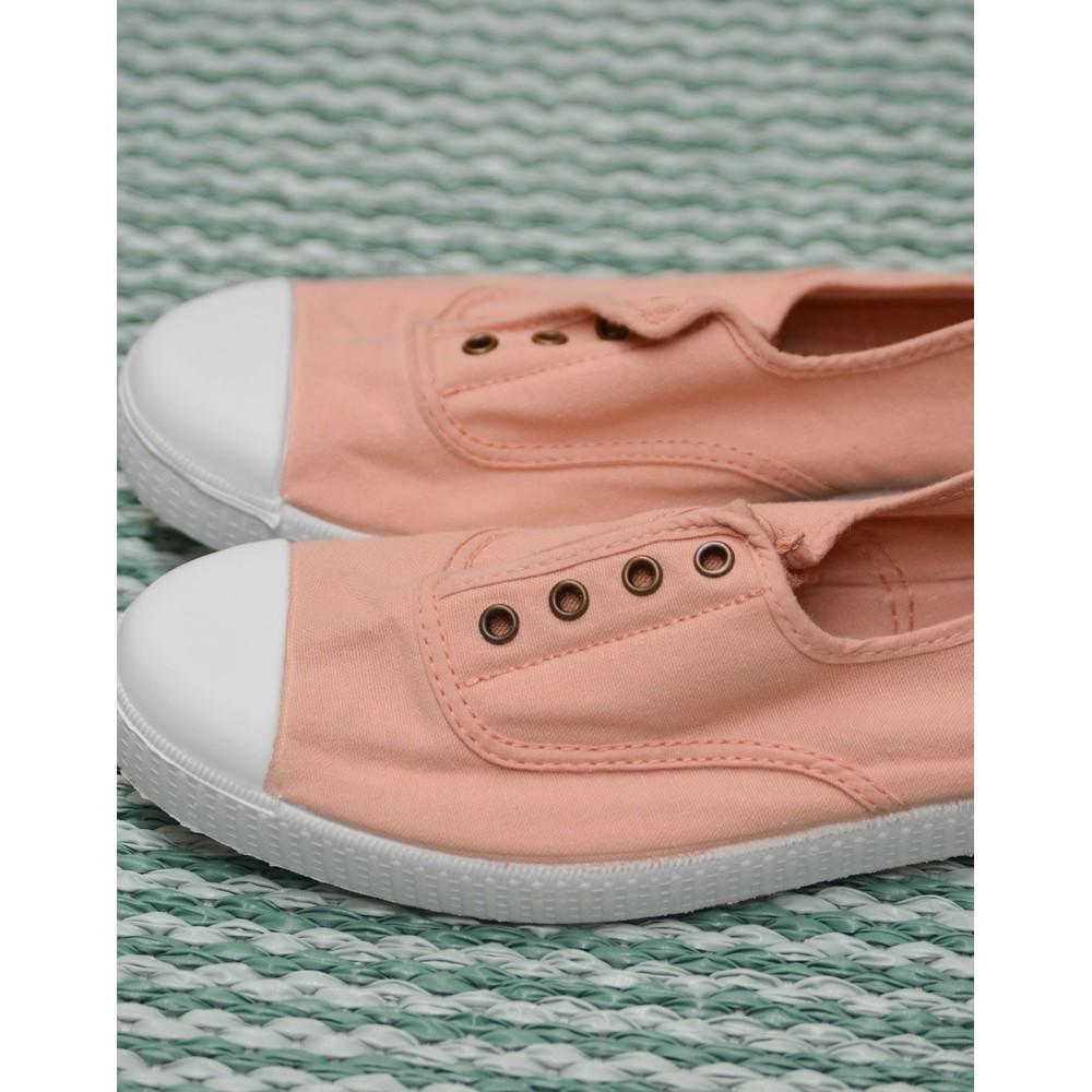 Victoria Dora No Laces Plimsoll Ballet Pink