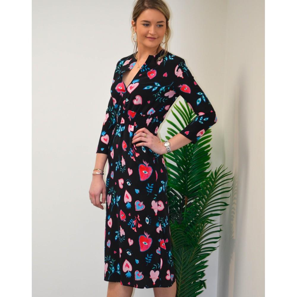 Primrose Park Tiffany Long Sleeve Sacred Heart Dress Black