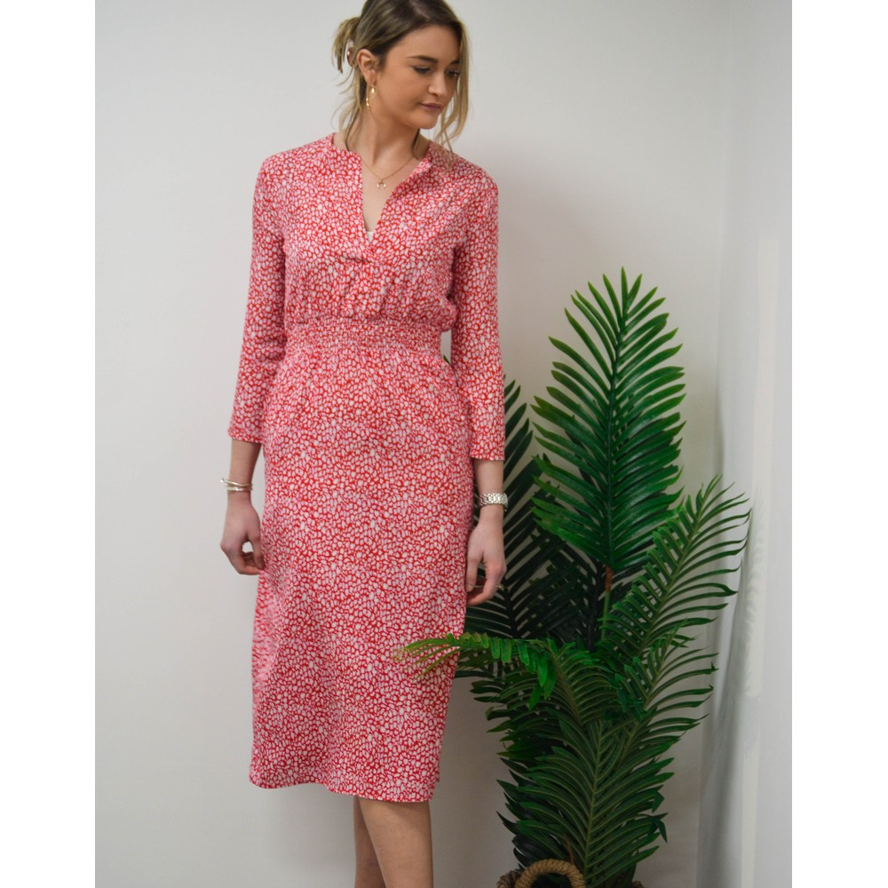 Primrose Park Tiffany Long Sleeve Leo Pattern Dress Red