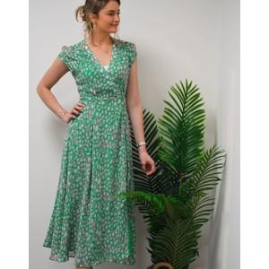 Annabel Wrap Dress Green