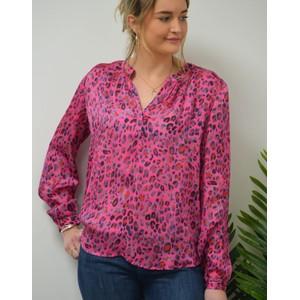 Primrose Park Sandy Leo Print Long Sleeve Top Pink