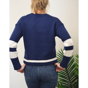 360 Sweater Ruby Block Stripe Jumper Pacific/White