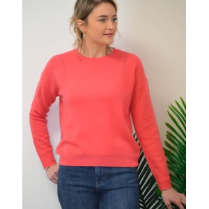 360 Sweater Camille Fine Knit Jumper Raspberry