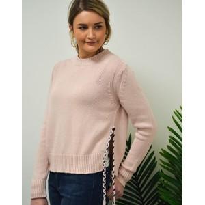 360 Sweater Phoenix Plait Side Tie Knit Peony