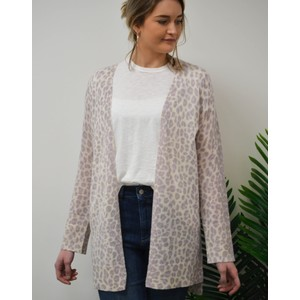 Sophie Leopard Cardi Purple Haze/Chalk