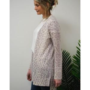 360 Sweater Sophie Leopard Cardi Purple Haze/Chalk