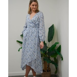 Leslie Wrap Floral Dress Skyway