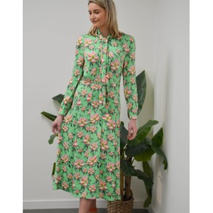 Rebecca Long Sleeve Floral Dress Irish Green